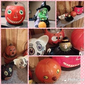 Lot of vintage late 1980 1990 halloween Decoration